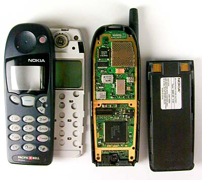 The parts of a cell phone