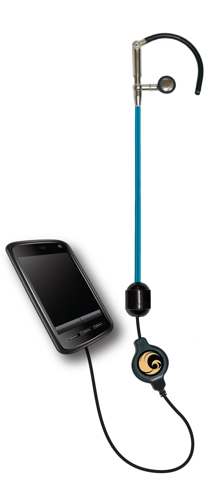 LIFE Blue Tube headset ear hook with phone